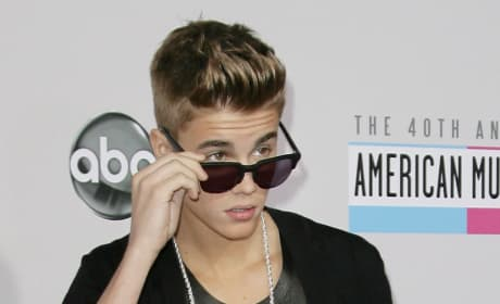Justin Bieber on AMA Red Carpet