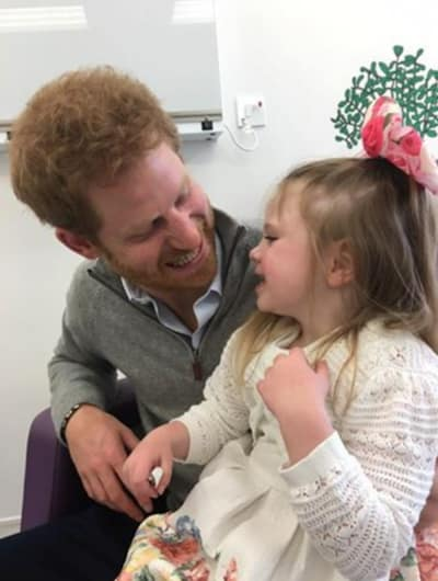 Prince Harry Visits Terminally Ill Girl