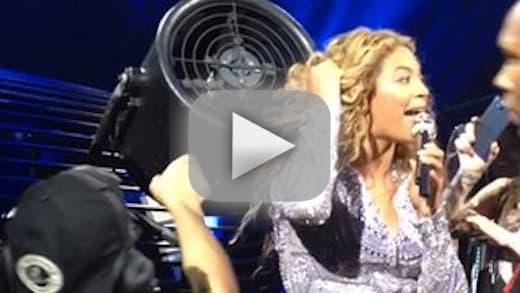 Beyonce Concert Clip: HELP!