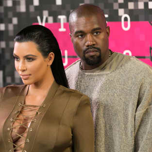 Kanye and Kim at the VMAs