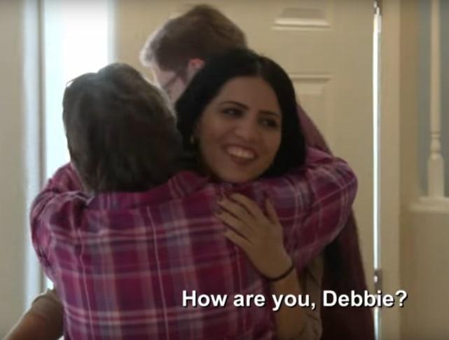 Larissa hugs debbie
