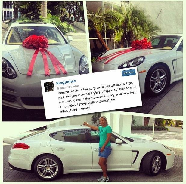LeBron James' Mom Gets a Car