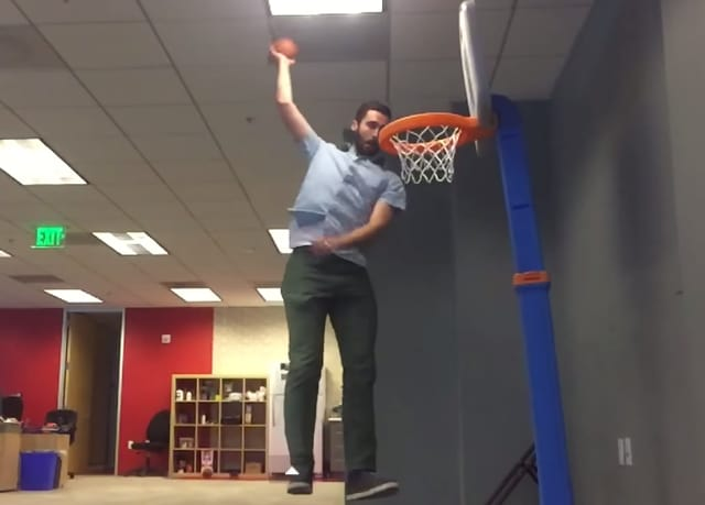 Superbe Fired Employee Spends Office Time Dunking Tiny Basketball   The Hollywood  Gossip