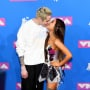 Ariana grande and pete davidson at the vmas
