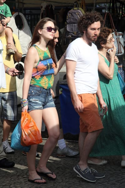 Leighton Meester and Aaron Himelstein