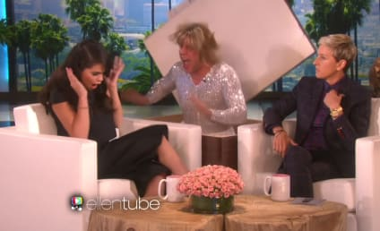 Fake Taylor Swift Scares Real Selena Gomez on Ellen