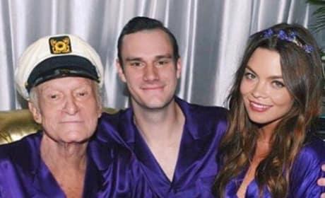 Hugh Hefner in a Robe