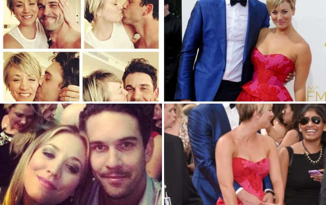 Kaley cuoco and ryan sweeting collage