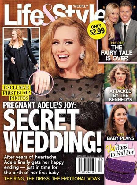 Adele Secret Wedding