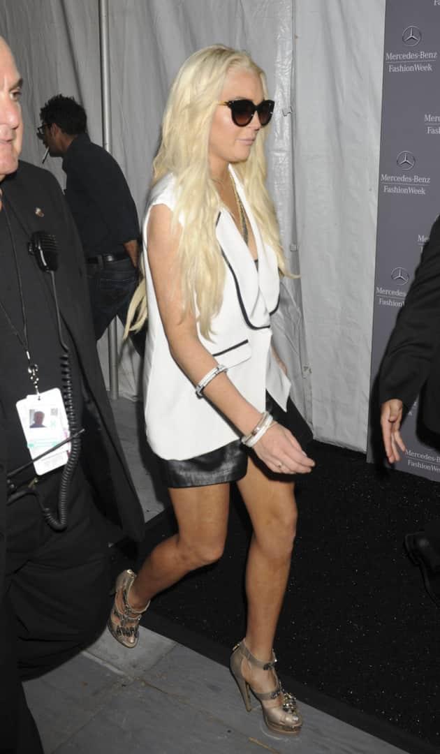 Lindsay Lohan at Fashion Week