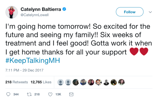 Catelynn Baltierra tweet