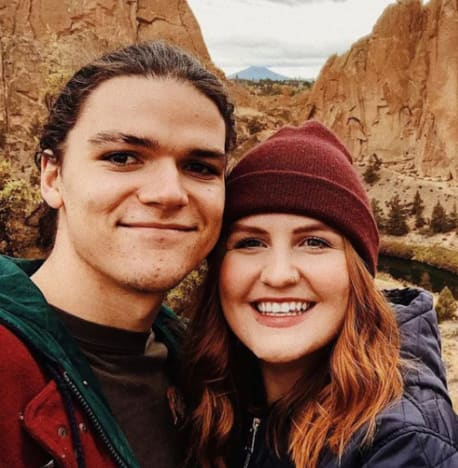 Jacob and Isabel Rolloff on a Hike