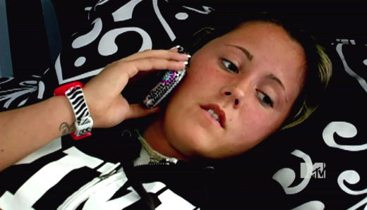 Jenelle on the Phone