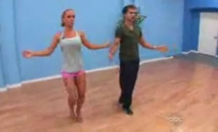 Dancing With the Strippers: Kendra Wilkinson Does a Striptease For Len!