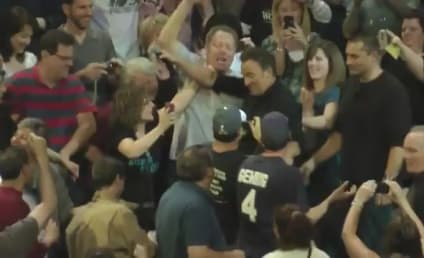 Bruce Springsteen Jumps Into Crowd, Drinks Guy's Beer in Mid-Song!