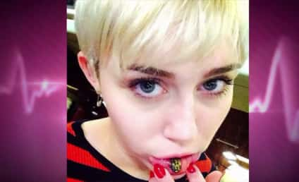 Miley Cyrus Lip Tattoo: Such a Sad Kitty...