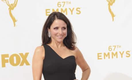 Julia Louis Dreyfus at the 2015 Emmys