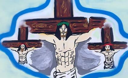 Chris Brown Jesus Photo; Star Feeling Crucified in Wake of Frank Ocean Melee?
