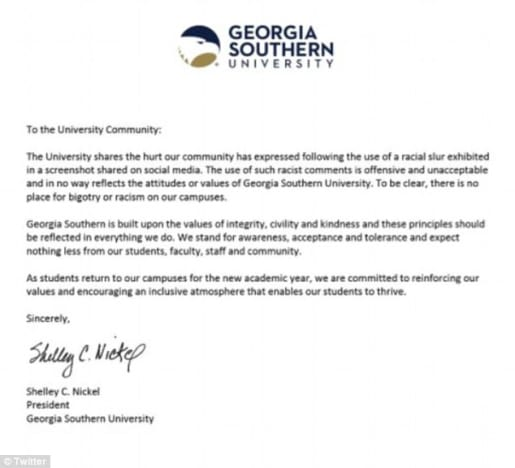 Georgia Southern N-Word Messages 03