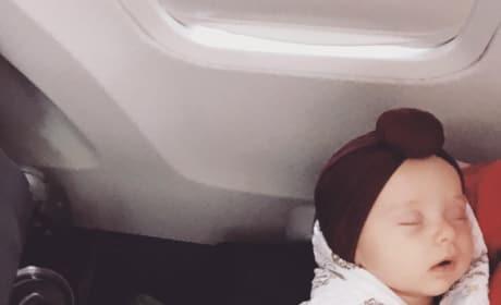Felicity Vuolo on a Plane