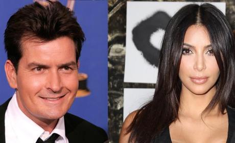 Charlie Sheen Tells Off Kim Kardashian