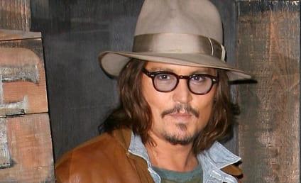 Celebrity Facial Hair Affair: Johnny Depp Sort of Shaves!