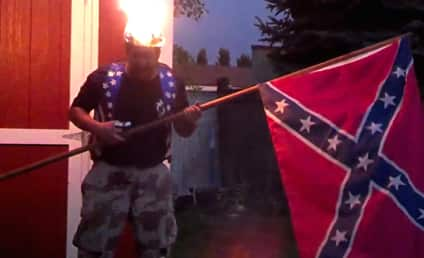 Total Moron Accepts Ice Bucket Challenge, Sets Self on Fire