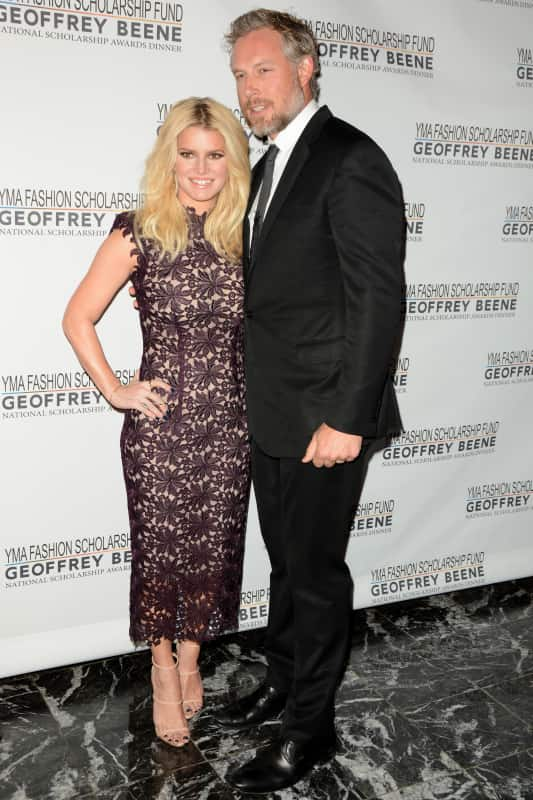 Jessica Simpson and Eric Johnson: 2016 YMA Fashion Scholarship Fund Geoffrey Beene National Scholarship Awards Dinner
