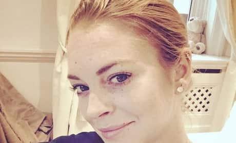 Lindsay Lohan: Makeup-Free Selfie