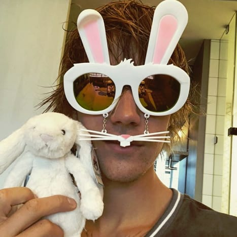 Justin Bieber and Bunny