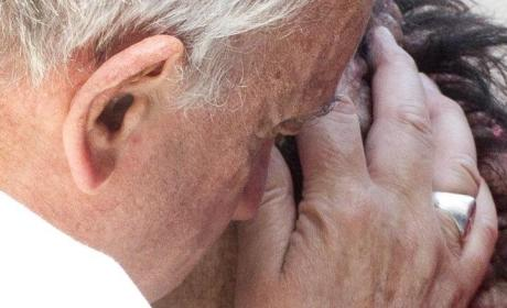 Pope Francis Kisses Man With Rare Disease