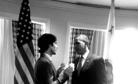 Ian Somerhalder and Barack Obama