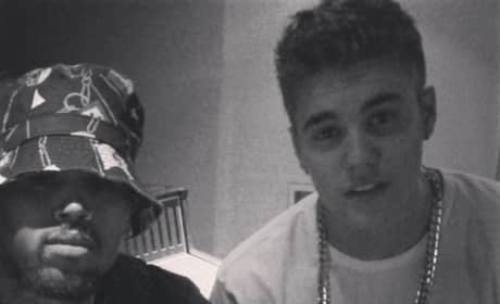 Justin Bieber and Chris Brown Pic