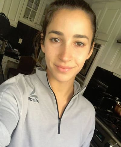 Aly Raisman No Makeup Selfie