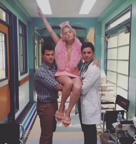 Billie Lourd, Taylor Lautner, and John Stamos!