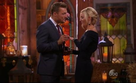 Chris Soules and Whitney Bischoff on Bachelor Finale