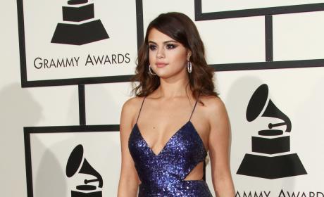 Selena Gomez at 2016 Grammys