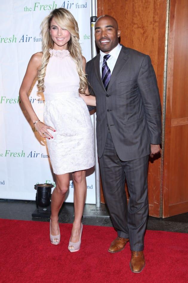 Tiki Barber and Traci Lynn Johnson