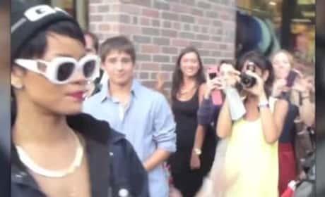 Rihanna Flips Out on Fans