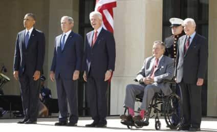 George W. Bush Library Dedicated, Five Living U.S. Presidents Converge