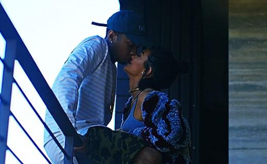 Kylie Jenner and Tyga Kissing
