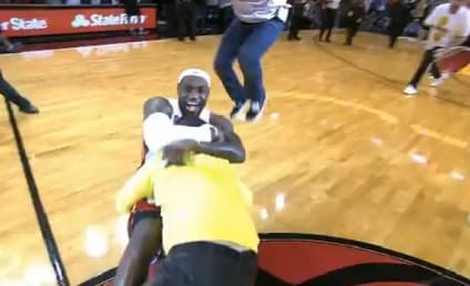 Man Hits Half Court Shot for 75K, Gets Mauled by LeBron James
