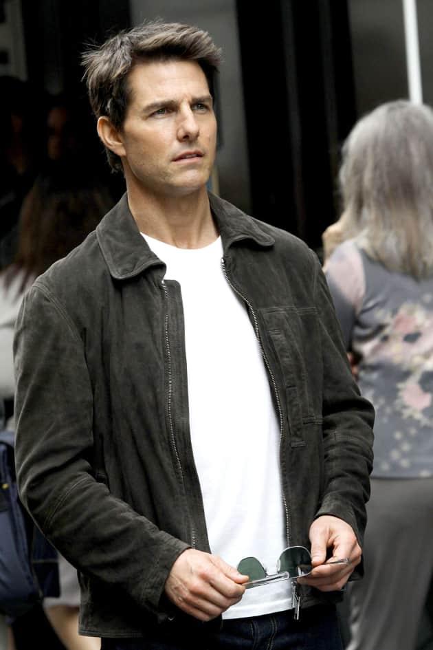 Tom Cruise on Set