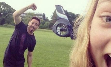 Robert Downey Jr. Photobomb