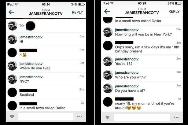 James Franco Instagram Flirting