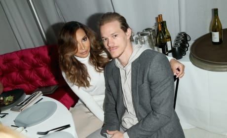 Naya Rivera and Ryan Dorsey, Cuddle on the Couch