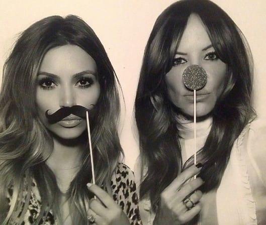 Kim Kardashian with Fake Mustache