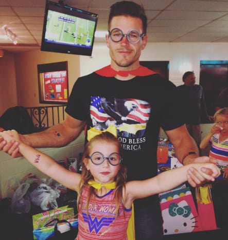 Cole DeBoer and Aubree As Superheroes