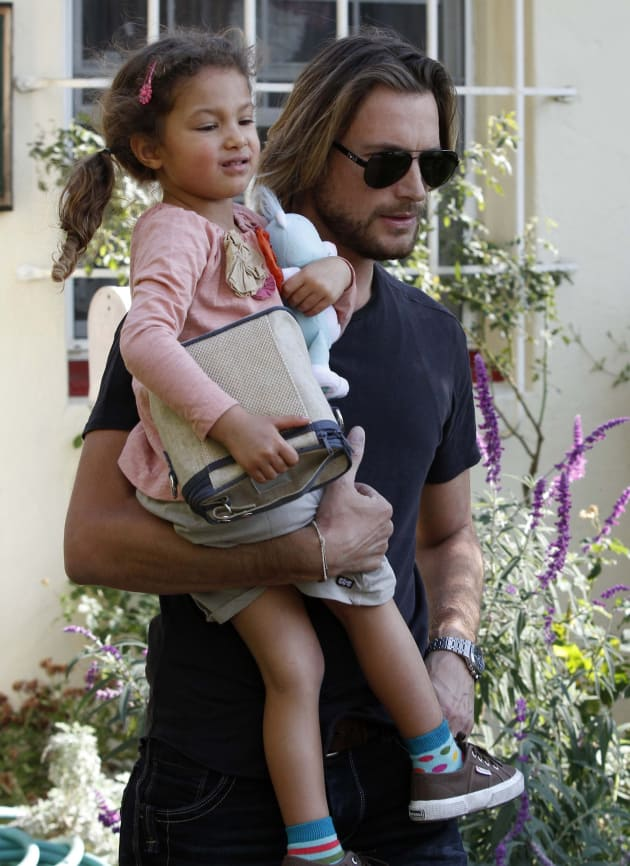 Gabriel Aubry with Daughter