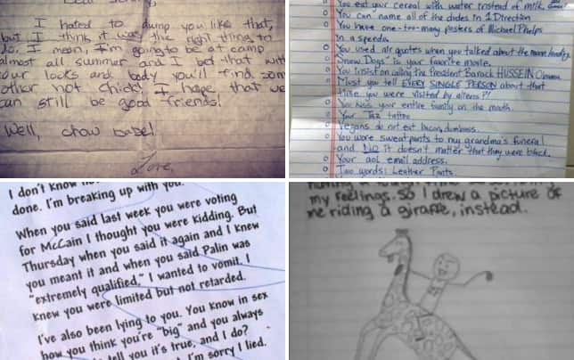 15 most absurd breakup letters ever youll be okay